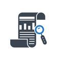 seo report glyph icon vector image vector image