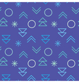 Simple decorative seamless pattern vector image