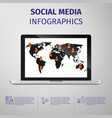 Social media infographics vector image vector image
