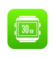 speedometer bike icon digital green vector image vector image