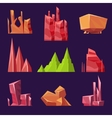 Stones Rocks and Canyons Set for Games vector image vector image