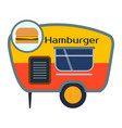 street food festival hamburger trailer vector image