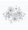 Summer adventure Inspirational vector image vector image