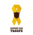 Support our troops yellow ribbon vector image vector image