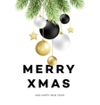 Traditional Christmas decoration elements Modern vector image vector image