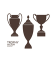 Trophy Cup Icon set vector image vector image