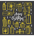 Unique Christmas Design vector image