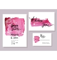 Handmade watercolor texture collection of pink vector image