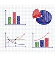 Business ink doodles on paper vector image