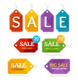 Clothes Sale Labels Set vector image