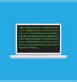 binary code on laptop icon vector image