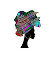 african wedding hairstyle colorful afro head wrap vector image vector image