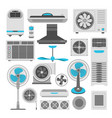 air conditioners and fans or purifiers vector image