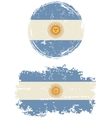 Argentinean round and square grunge flags vector image vector image