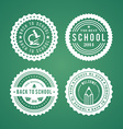 Back to School design elements Retro style and vector image
