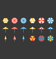beach umbrella set vector image vector image