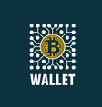 bitcoin wallet vector image