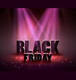 black friday sale backgroundwith red lights vector image