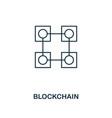 blockchain outline icon monochrome style design vector image