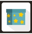 Box to perform tricks icon flat style vector image vector image