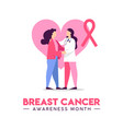 breast cancer awareness concept of doctor help vector image vector image