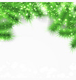 bright shimmering fir tree layout card vector image vector image