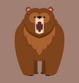 brown bear funny happy animal cartoon vector image vector image