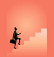 businesswoman stepping on stairs vector image vector image