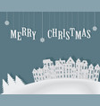 christmas card template flyer vector image vector image