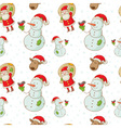 christmas figures seamless white big vector image vector image