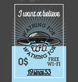 color vintage ufo banner vector image vector image