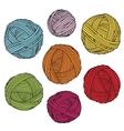 Colorful yarn balls Wool skeins vector image vector image