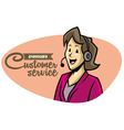 Customer sevice girl on phone vector image