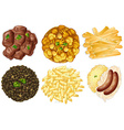 Different sets of foods vector image vector image