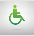 Disabled symbol Green icon vector image vector image