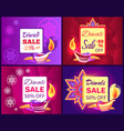 diwali sale set of posters vector image vector image