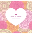 doodle circle texture heart silhouette pattern vector image
