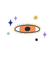esoteric evil eye with eyelashes in doodle style vector image vector image