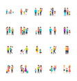 family characters set vector image