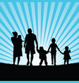 family large with children walking in beauty vector image vector image
