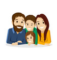 family with children on a white background vector image