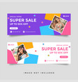 fashion sale facebook cover banner template vector image vector image