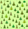fir-trees simple winter background beautiful vector image
