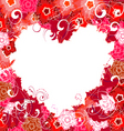 floral valentine vector image vector image