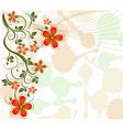 floral vine background vector image vector image