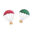 gift boxes flying with parachutes vector image vector image