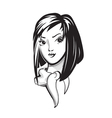Girl with bob haircut vector image