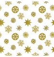 gold snowflake seamless pattern beautiful vector image