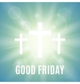Good Friday religious background vector image