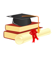graduation mortar vector image